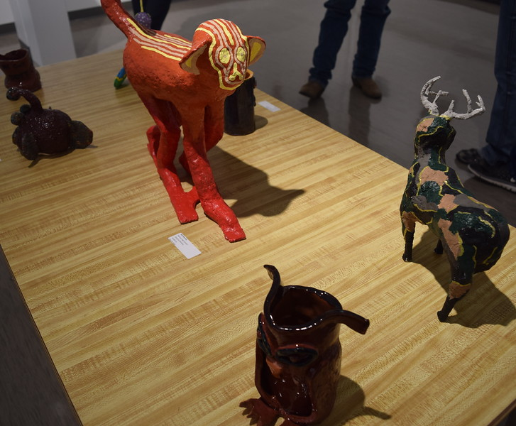 A variety of ceramic pieces created by Merino High School students was on display at NJC's annual High Plains Secondary School Art Exhibit.