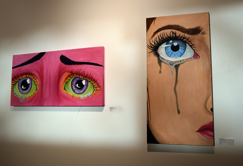 Acrylic on canvas pieces created by Sterling High School student Emily Weiss were among the artwork on display at Northeastern Junior College's annual High Plains Secondary School Art Exhibit held in April.