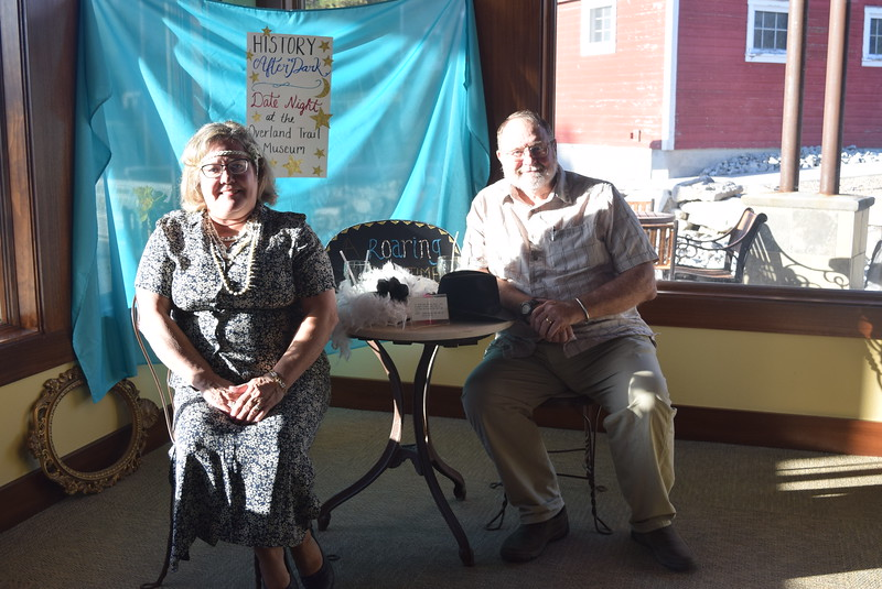 A photo booth gave couples a chance to capture memories at Overland Trail Museum's History After Dark – Date Night at the Museum program on the 1920s Friday, June 23, 2017.