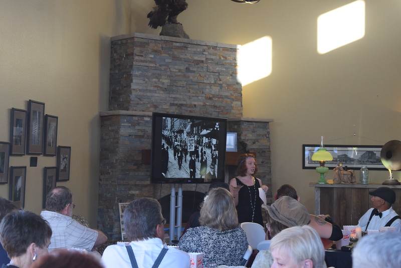 Leslie Fager, museum staff member, talks about Prohibition during Overland Trail Museum's History After Dark – Date Night at the Museum program Friday, June 23, 2017.