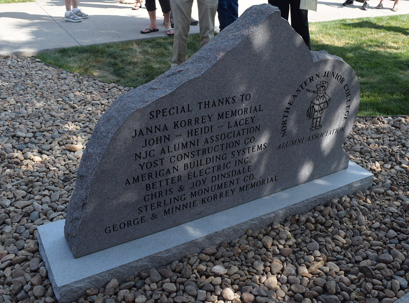 The back of the Janna Korrey Memorial Pavilion monument gives special thanks to all the donors that made it possible.