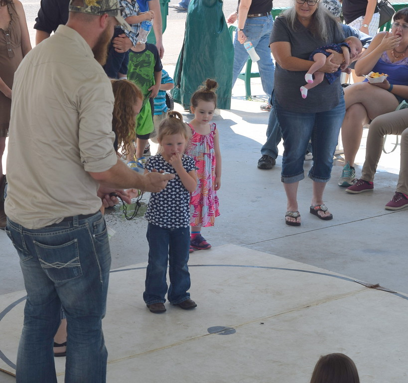Cricket races at the Logan County Fair Saturday, Aug. 12, 2017.