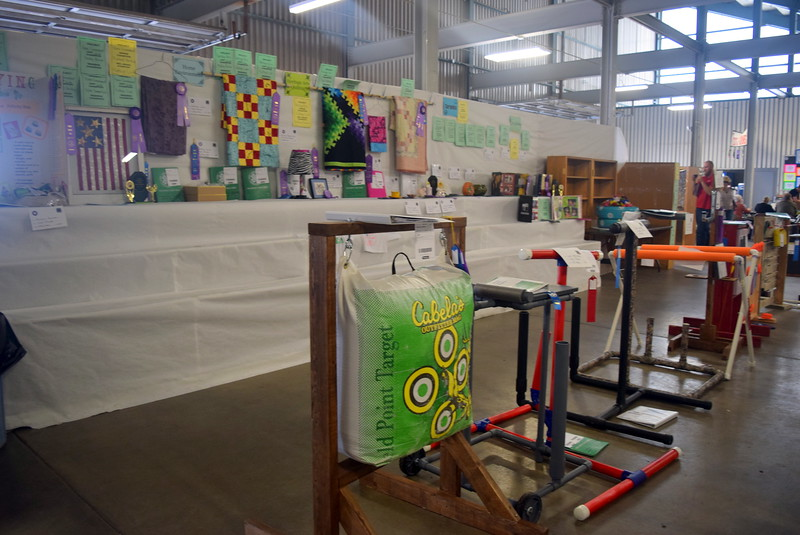 A varitey of 4-H projects were on display underneath the grandstands Wednesday, Aug. 9, 2017, at the Logan County Fair.