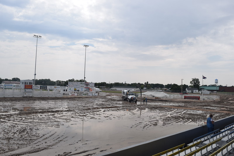 While a flooded arena led to the rescheduling of the Junior Rodeo to Sunday, the Dick Stull PRCA Rodeos are still slated for Thursday and Friday nights with the Miss Rodeo Logan County Coronation on Friday night.