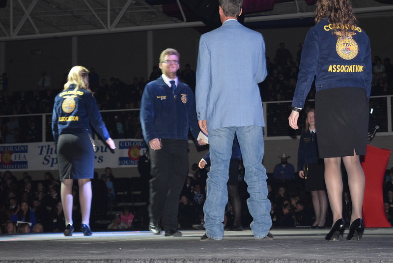 Trent Marick, of the Caliche FFA chapter, receives his State FFA Degree at the Colorado FFA State Convention Wednesday, June 8, 2016.