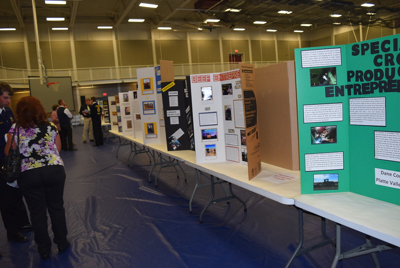 Guests were able to look over SAE (Supervised Agricultural Experiences) projects durnig an SAE Career Fair at the Colorado FFA State Convention Wednesday, June 8, 2016.
