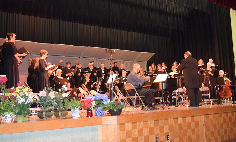 "Master Chorale performs ""God Bless Our Homes,"" under the direction of Don Johnson, during their Spring Concert XXV Sunday, May 8, 2016. The Mother's Day concert featured a tribute to mothers, as well as America and its Armed Forces."