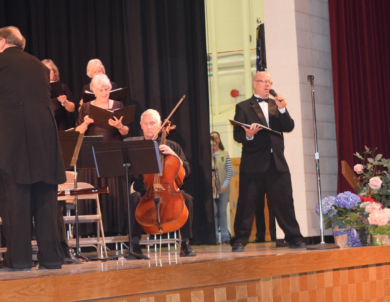"""Clark Scriven sings a solo as Master Chorale performs """"God Bless America"""" during its Spring Concert XXV Sunday, May 8, 2016."""
