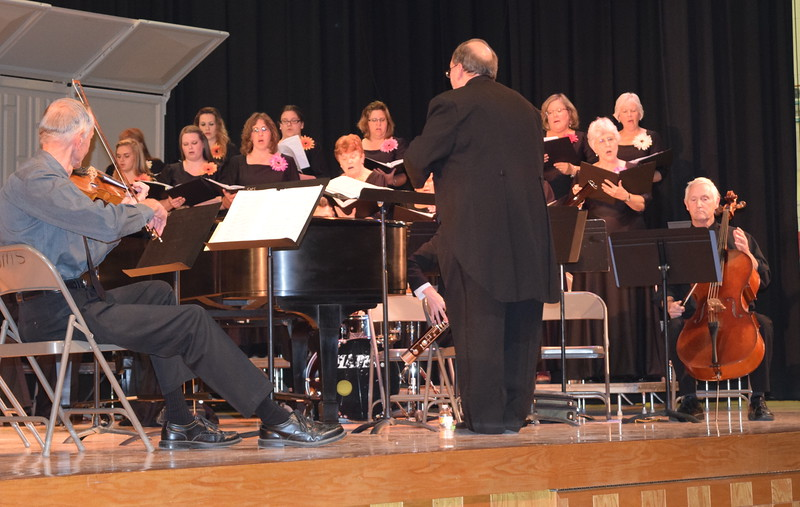 "Women's Chorus members perform ""Music In My Mother's House"" during Master Chorale's Spring Concert XXV Sunday, May 8, 2016."