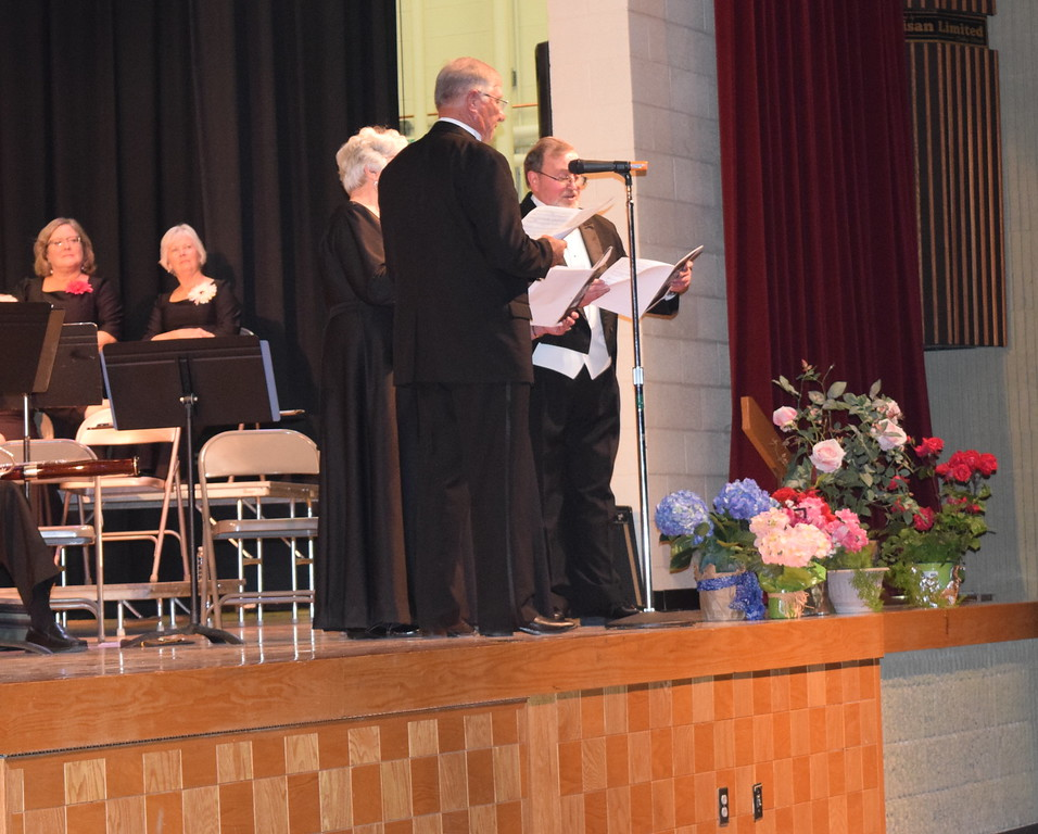 """A quartet - Nita and Richard Gillham, Nancy Bohac and Don Johnson - performs """"M-O-T-H-E-R"""" during Master Chorale's Spring Concert XXV Sunday, May 8, 2016."""