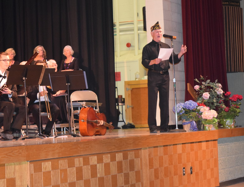 "The Rev. Phil Found performs ""The Navy Hymn"" during Master Chorale's Spring Concert XXV Sunday, May 8, 2016. Found was a helicopter pilot in Vietnam."