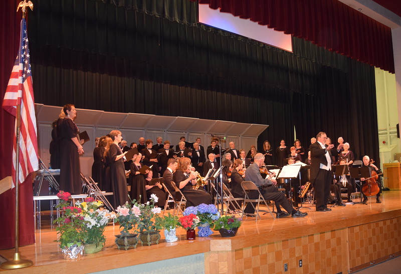 "Master Chorale performs ""Battle Hymn of the Republic,"" under the direction of Don Johnson, during its Spring Concert XXV Sunday, May 8, 2016."