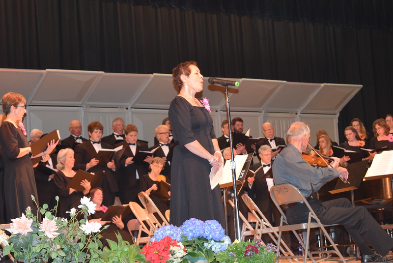 "Christine Penner sings a solo as the Master Chorale performs ""Sometimes I Feel Like a Motherless Child"" during their Spring Concert XXV Sunday, May 8, 2016."