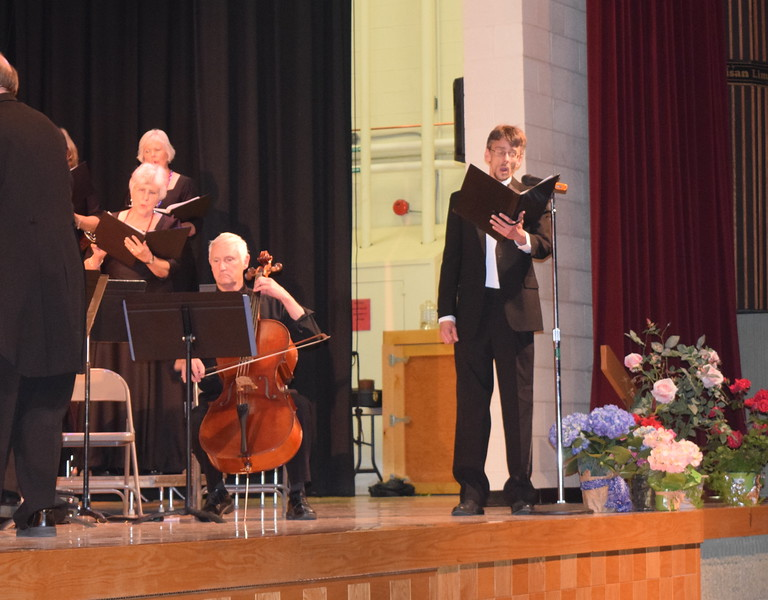 """Michael Kiser sings a solo as the Master Chorale performs """"Waters Ripple and Flow"""" during its Spring Concert XXV Sunday, May 8, 2016."""
