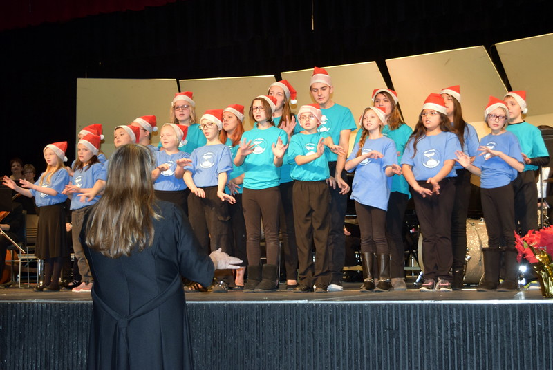 "The RE-1 Valley Children's Chorale were special guests at Master Chorale's 25th Noel Christmas Concert, Sunday, Dec. 11, 2016. Here they perform ""Let It Snow!,"" under the direction of Annette Lambrecht and Dana May."
