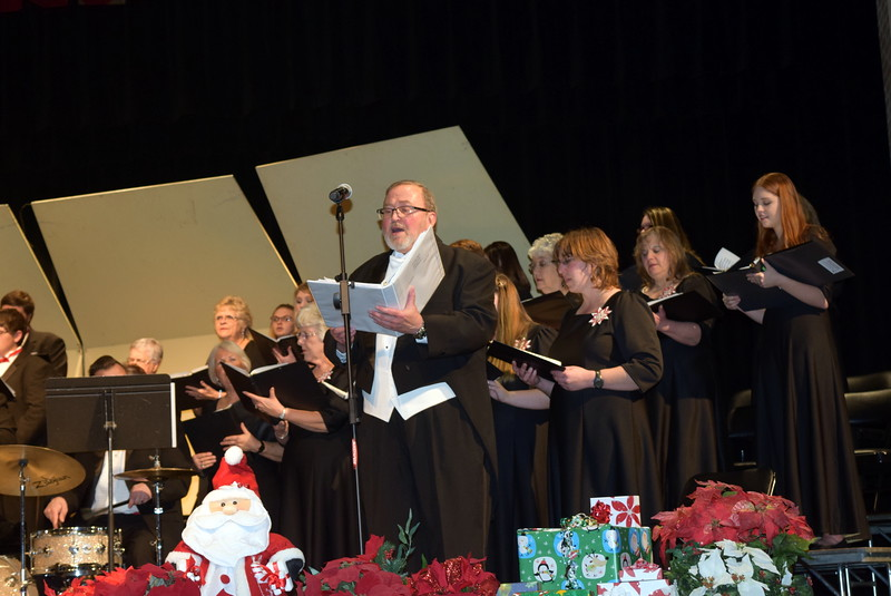 "Don Johnson sings a solo during Master Chorale's performance of ""Amen,"" at the group's 25th Noel Christmas Concert, Sunday, Dec. 11, 2016."