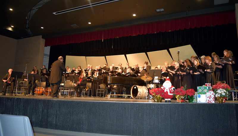 """The Master Chorale performs """"Quoniam Tu Solus Sanctus,"""" under the direction of Don Johnson, at their 25th Noel Christmas Concert, Sunday, Dec. 11, 2016."""