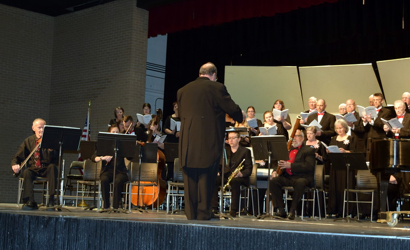 """Master Chorale members perform """"Gloria In Excelsis,"""" under the direction of Don Johnson, during their 25th Noel Christmas Concert, Sunday, Dec. 11, 2016."""