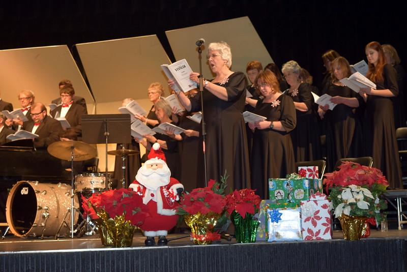 "Nancy Bohac sings a solo, ""Domine Deus, Agnus Dei,"" during Master Chorale's 25th Noel Christmas Concert, Sunday, Dec. 11, 2016."