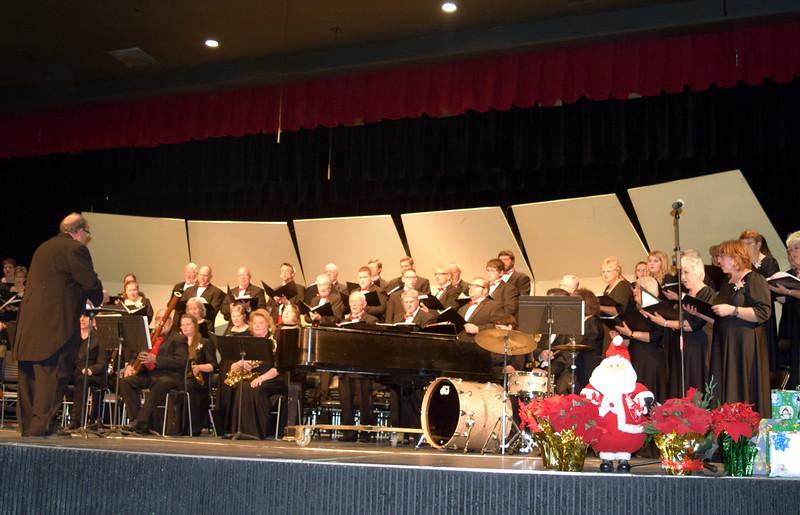 "Master Chorale members perform ""Rockin' Jerusalem"" at the 25th Noel Christmas Concert, Sunday, Dec. 11, 2016."