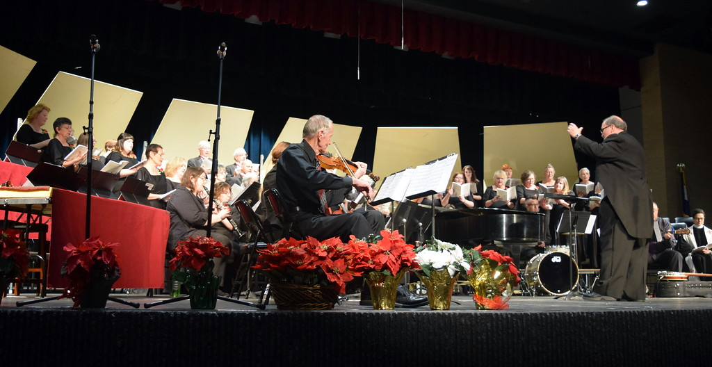 ". The Master Chorale performs ""Rise, O People, and Bring Good News,\"" under the direction of Don Johnson, at the 26th Noel Christmas Concert Sunday, Dec. 10, 2017."