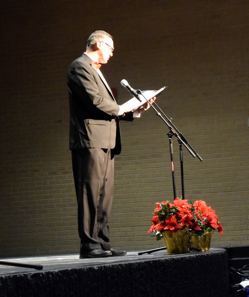 """Steve Smith sings a solo during Master Chorale's performance of """"Gesu Bambino"""" at their 26th Noel Christmas Concert Sunday, Dec. 10, 2017."""