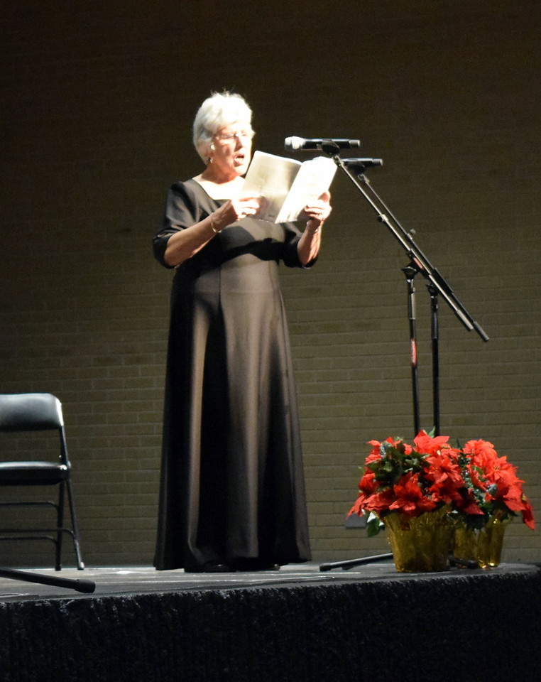 "Nancy Bohac sings a solo during Master Chorale's performance of ""Star Eternal"" at their 26th Noel Christmas Concert Sunday, Dec. 10, 2017."