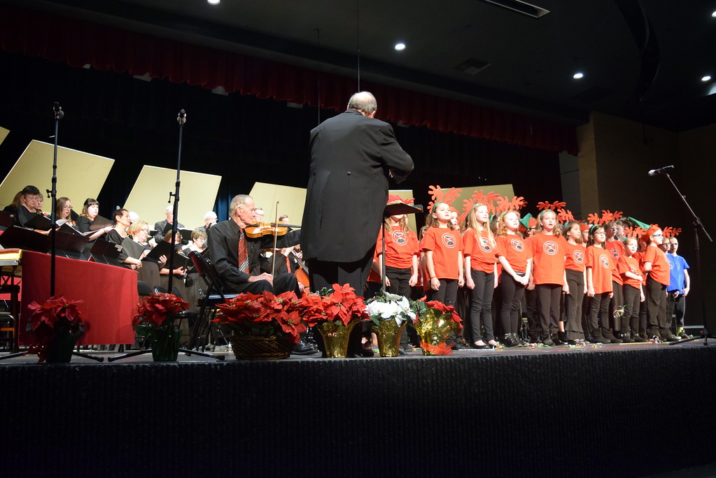 ". The Master Chorale and RE-1 Valley Children\'s Chorale perform ""Away In A Manger\"" at the choir\'s 26th Noel Christmas Concert Sunday, Dec. 10, 2017."