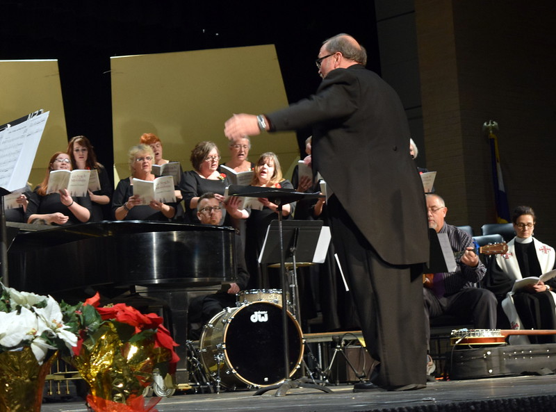"Don Johnson directs the Master Chorale's performance of ""Rise, O People, and Bring Good News"" at their 26th Noel Christmas Concert Sunday, Dec. 10, 2017."