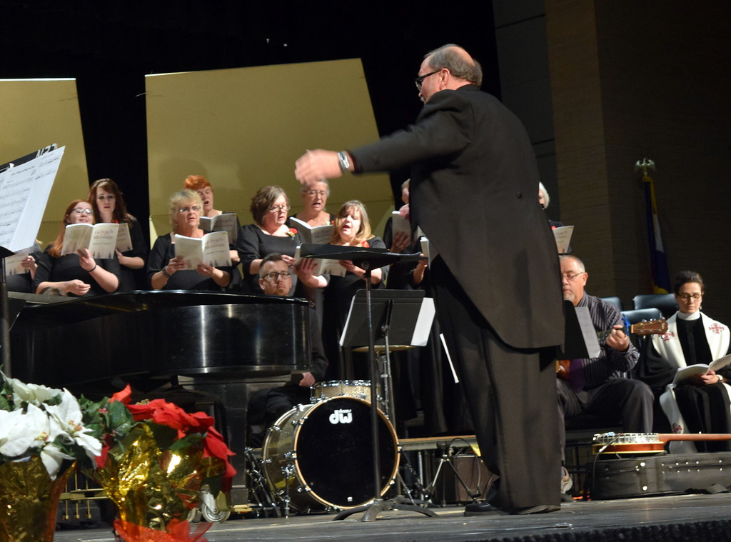 ". Don Johnson directs the Master Chorale\'s performance of ""Rise, O People, and Bring Good News\"" at their 26th Noel Christmas Concert Sunday, Dec. 10, 2017."