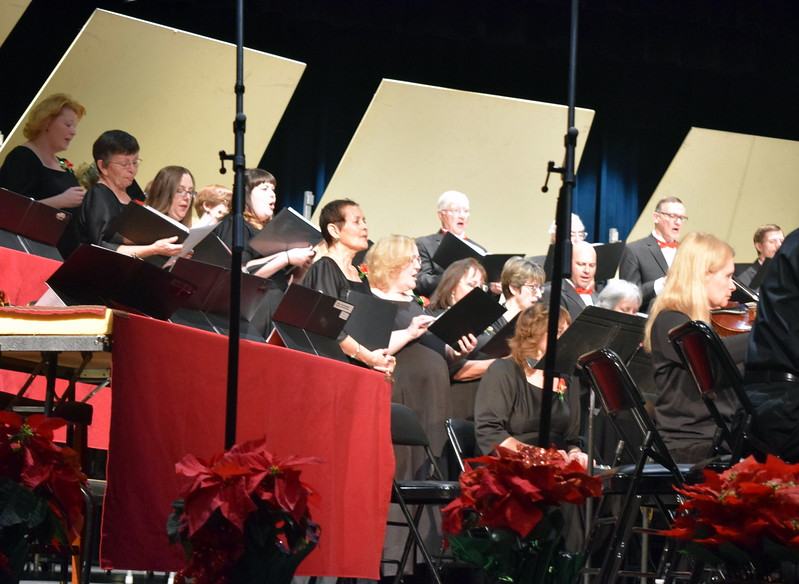 "Master Chorale members perform ""God Rest You Merry, Gentlemen,"" under the direction of Don Johnson, at their 26th Noel Christmas Concert Sunday, Dec. 10, 2017."