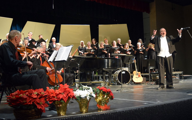 "Master Chorale performs ""Hallelujah,"" under the direction of Don Johnson, for the finale of their 26th Noel Christmas Concert Sunday, Dec. 10, 2017."
