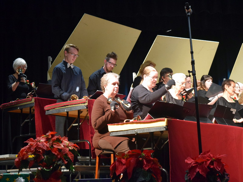 "The Christ United Methodist Church Handbell Choir performs ""Calypso Christmas"" during the choir's 26th Noel Christmas Concert Sunday, Dec. 10, 2017."