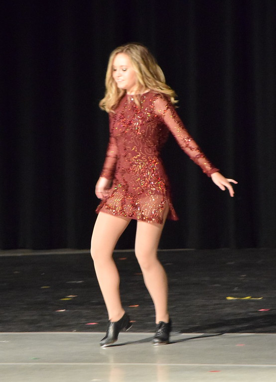 ". Sydney Wright dances to ""Na Na Na\"" at Melissa\'s School of Dance and Gymnastics\' \""Dance In Motion\"" recital Wednesday, June 13, 2018."