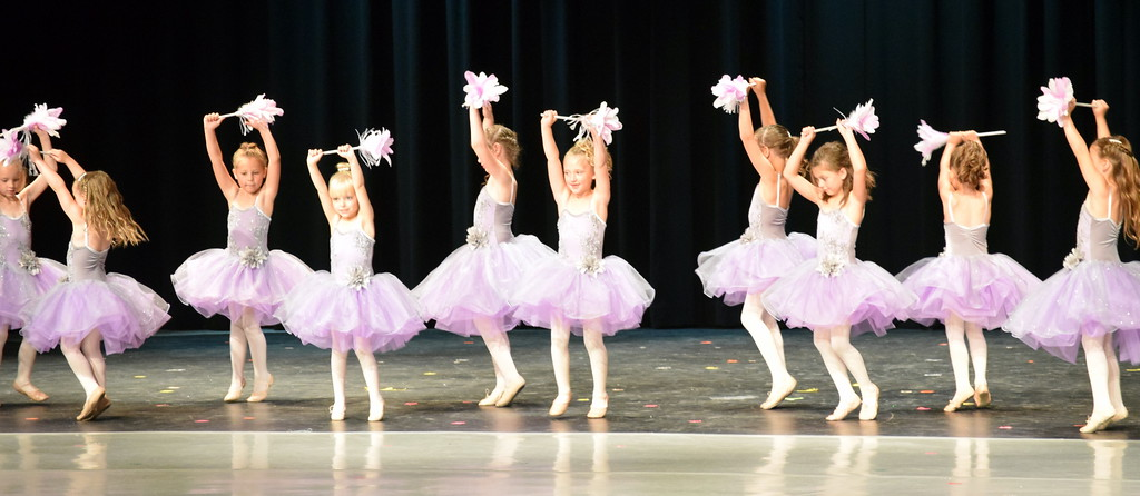 ". Ballerinas dance to ""Cinderella-The Work Song\"" at Melissa\'s School of Dance and Gymnastics\' \""Dance in Motion\"" recital Wednesday, June 13, 2018."