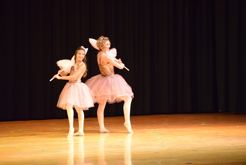 "Bella Pacheco and Arabella Melton dance to ""Lonely Goatherd"" at Melissa's School of Dance and Gymnastics' ""Remember When"" spring recital Wednesday, June 14, 2017."