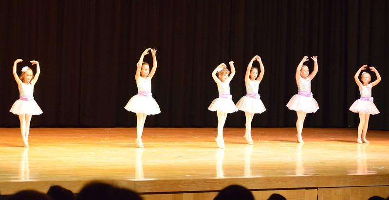"Noelle Murphy, Elizabeth Waller, Lauren Lorenzo, Hailey Foos, Lindsey Richie and Kiran McCracken dance to ""High Ho"" at Melissa's School of Dance and Gymnastics' ""Remember When"" spring recital Wednesday, June 14, 2017."