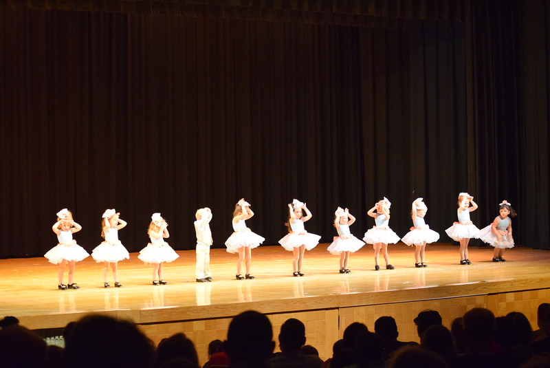 "Blakely McClary, McKinley Nolan, Arabelle Murphy, Mason Hulbert, Mariah Perez, Olivia Rinaldo, Avery Jones, Demi Mulleson, Diem Schuppe, Emory Wolf and Ciara Carrera dance to ""Do-Re-Mi"" at Melissa's School of Dance and Gymnastics' ""Remember When"" spring recital Wednesday, June 14, 2017."