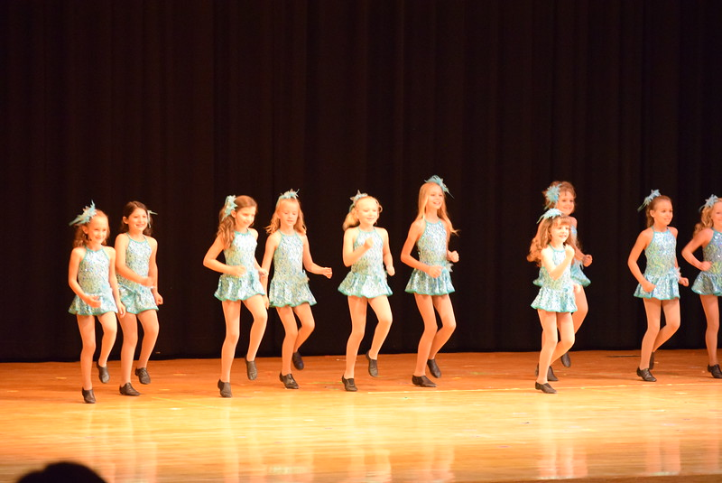 "Noelle Murphy, Emma Feather, Kiran McCracken, Lauren Lorenzo, Elizabeth Waller, Lindsey Richie, Chloe Hutcheson, Addison Koester, Madilyn Johnson, Ashley Bornhoft, Abigail Kelley, Kenzi Rubottom, Alexis Breidenbach and Annabelle Hulbert dance to ""Boot Scootin' Baby"" at Melissa's School of Dance and Gymnastics' ""Remember When"" spring recital Wednesday, June 14, 2017."