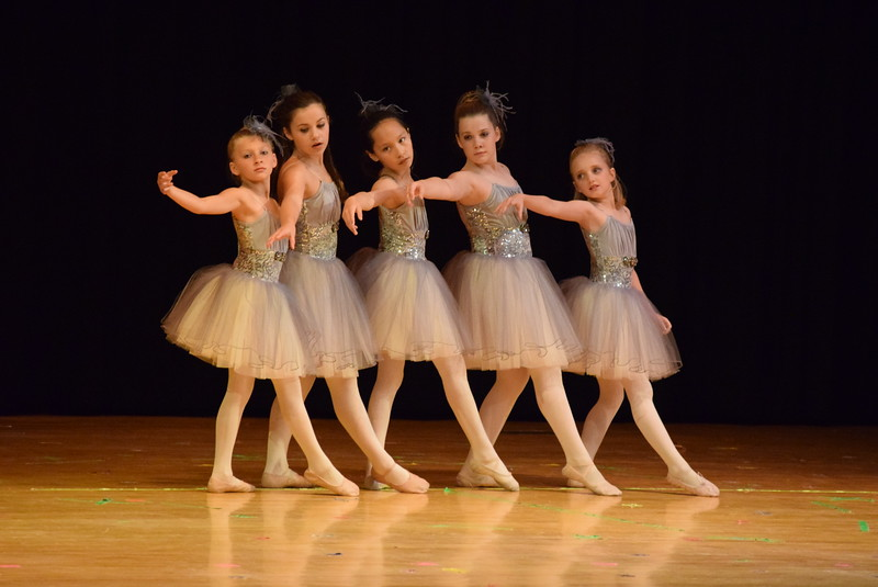 "Soryn Lee, Connie Gassaway, Aeris Evanson, Kierra Simmons and Emma Henry dance to ""One Voice"" at Melissa's School of Dance and Gymnastics' ""Remember When"" spring recital Wednesday, June 14, 2017."