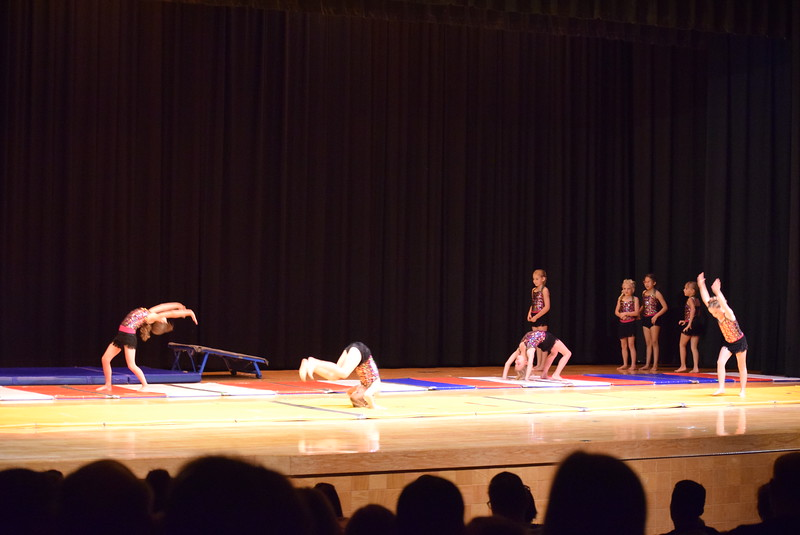 """Gymnasts perform to """"Great Gatsby"""" at Melissa's School of Dance and Gymnastics' """"Remember When"""" spring recital Wednesday, June 14, 2017."""