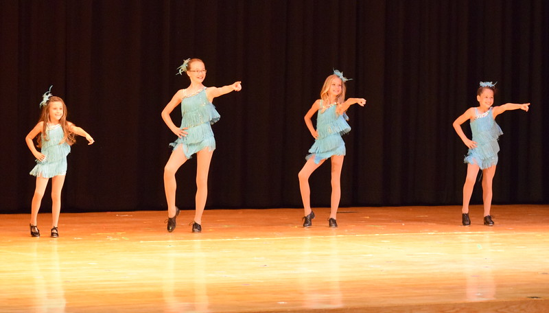 "Emoree Lousberg, Kailynne Swingle, Ashley Bornhoft and Kenah Meraz dance to ""Stupid Cupid"" at Melissa's School of Dance and Gymnastics' ""Remember When"" spring recital Wednesday, June 14, 2017."