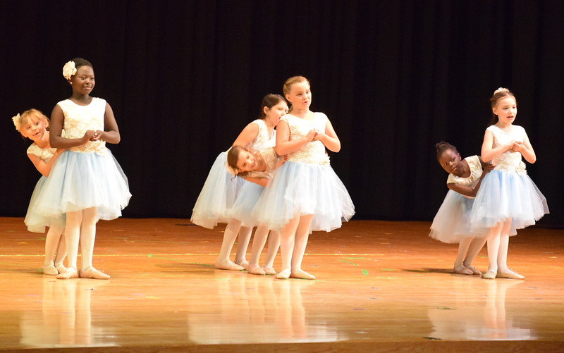 "Tatum Bowen, Christina Mackintosh, Faithe Spicer, Emma Feather, Addison Koester, Chloe Hutt and Fidea Mackintosh dance to ""So Long, Farewell"" at Melissa's School of Dance and Gymnastics' ""Remember When"" spring recital Wednesday, June 14, 2017."