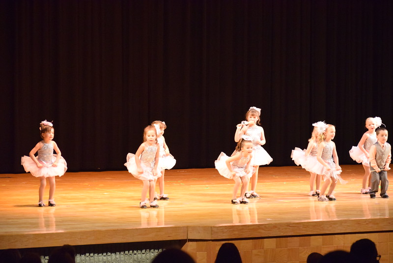 "Brinley Hect, Makenna Eastin, Callie Schoenberg, Matthew Baird, Mya DeMaria, Laurel Murphy, Bristol Cook, Victoria Hulbert, Monic Weis, Ashtyn Fuller, Jayla Samen, Syrie Richie, Gracie Abrahamson, Lilly Johnson and Adley Larralde dance to ""A Spoonful of Sugar"" at Melissa's School of Dance and Gymnastics' ""Remember When"" spring recital Wednesday, June 14, 2017."