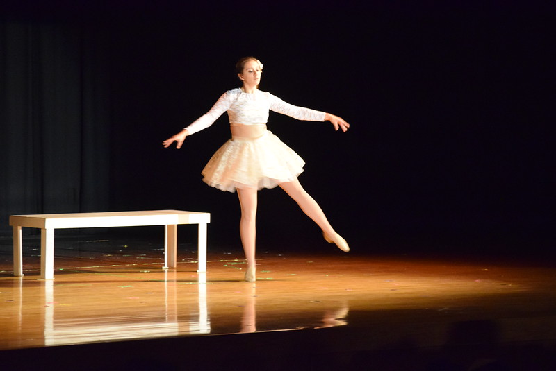 """Tabby Rangel dances to """"Piece By Piece"""" at Melissa's School of Dance and Gymnastics' """"Remember When"""" spring recital Wednesday, June 14, 2017."""