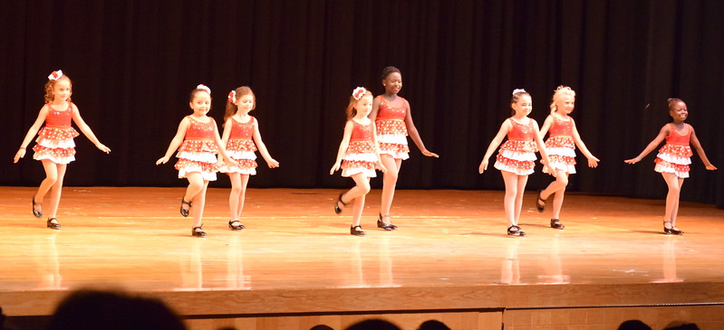 "Veronica Rentira, Madison Nolan, Leila Warden, Fidea Mackintosh, Chloe Kloberdanz, Morgan Frankenfeld, Christina Mackintosh and Shaylee Dolan dance to ""At the Codfish Ball"" at Melissa's School of Dance and Gymnastics' ""Remember When"" spring recital Wednesday, June 14, 2017."