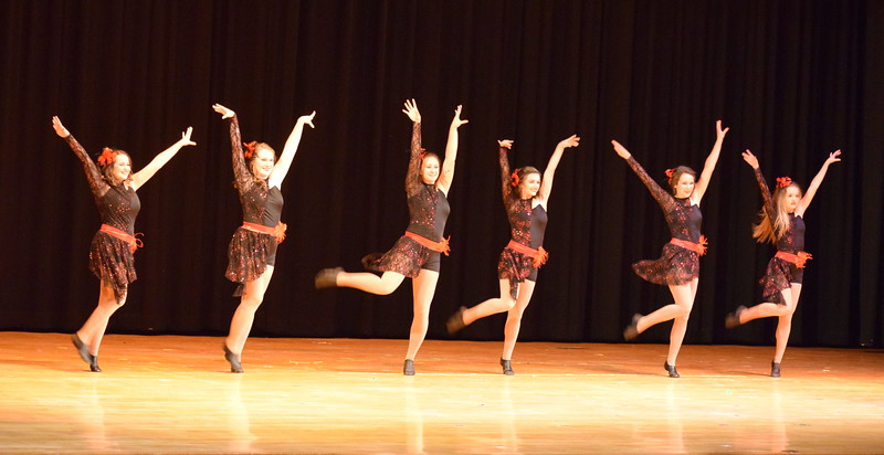 "Grace Reeves, Emory Underwood, Tabby Rangel, Sonjia Hadley, Sydney Wright and Rachael Northup dance to ""Americano"" at Melissa's School of Dance and Gymnastics' ""Remember When"" spring recital Wednesday, June 14, 2017."