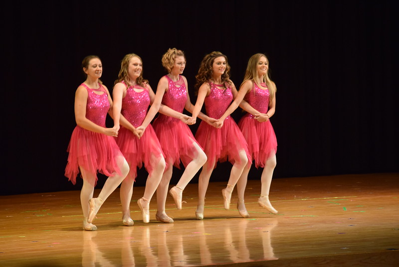 """Arabella Melton, Sonjia Hadley, Tabby Rangel, Emory Underwood and Sydney Wright dance to """"Dance"""" at Melissa's School of Dance and Gymnastics' """"Remember When"""" spring recital Wednesday, June 14, 2017, under the direction of master choreographer and instructor Melissa Craddock."""