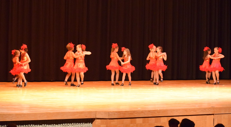 "Noelle Murphy, Addison Koester, Abigail Kelley, Lindsey Richie, Elizabeth Waller, Lauren Lorenzo, Kiran McCracken, Emma Feather, Chloe Hutt and Faithe Spicer dance to ""Rockin' Robin"" at Melissa's School of Dance and Gymnastics' ""Remember When"" spring recital Wednesday, June 14, 2017."