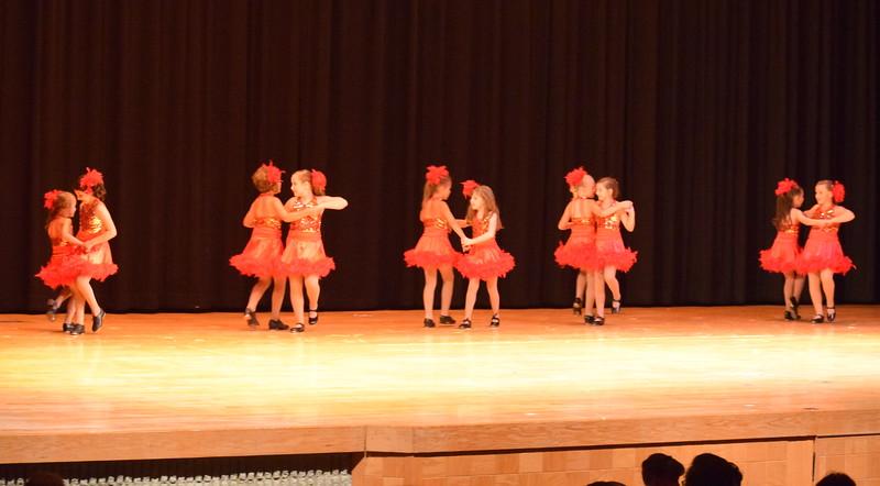 "Noelle Murphy, Addison Koester, Abigail Kelley, Lindsey Richie, Elizabeth Waller, Lauren Lorenzo, Kiran McCracken, Emma Feather, Chloe Hutt and Faithe Spicer dance to ""Rockin' Robin"" at Melissa's School of Dance and Gymnastics' ""Remember When"" spring recital Wednesday, June 14, 2017."